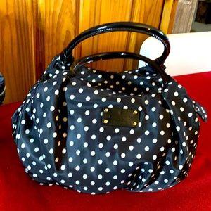 Kate Spade black and white poke a dot purse